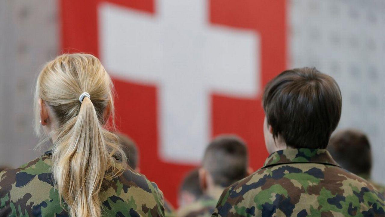 Des recrues de l'armée suisse (photo prétexte). [Peter Klaunzer - Keystone]