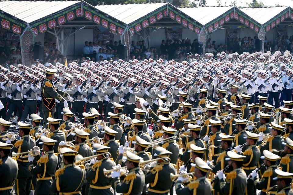 L'attaque a eu lieu lors de la Journée nationale des forces armées iraniennes (image d'illustration). [Ebrahim Noroozi - AP/Keystone]