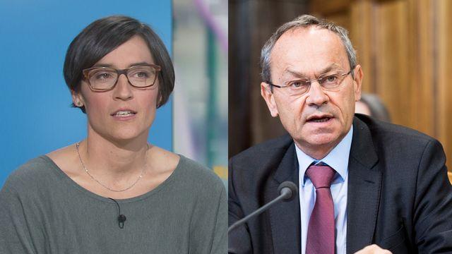 Zoé Dardel et Olivier Français. [- /Anthony Anex - RTS / Keystone]