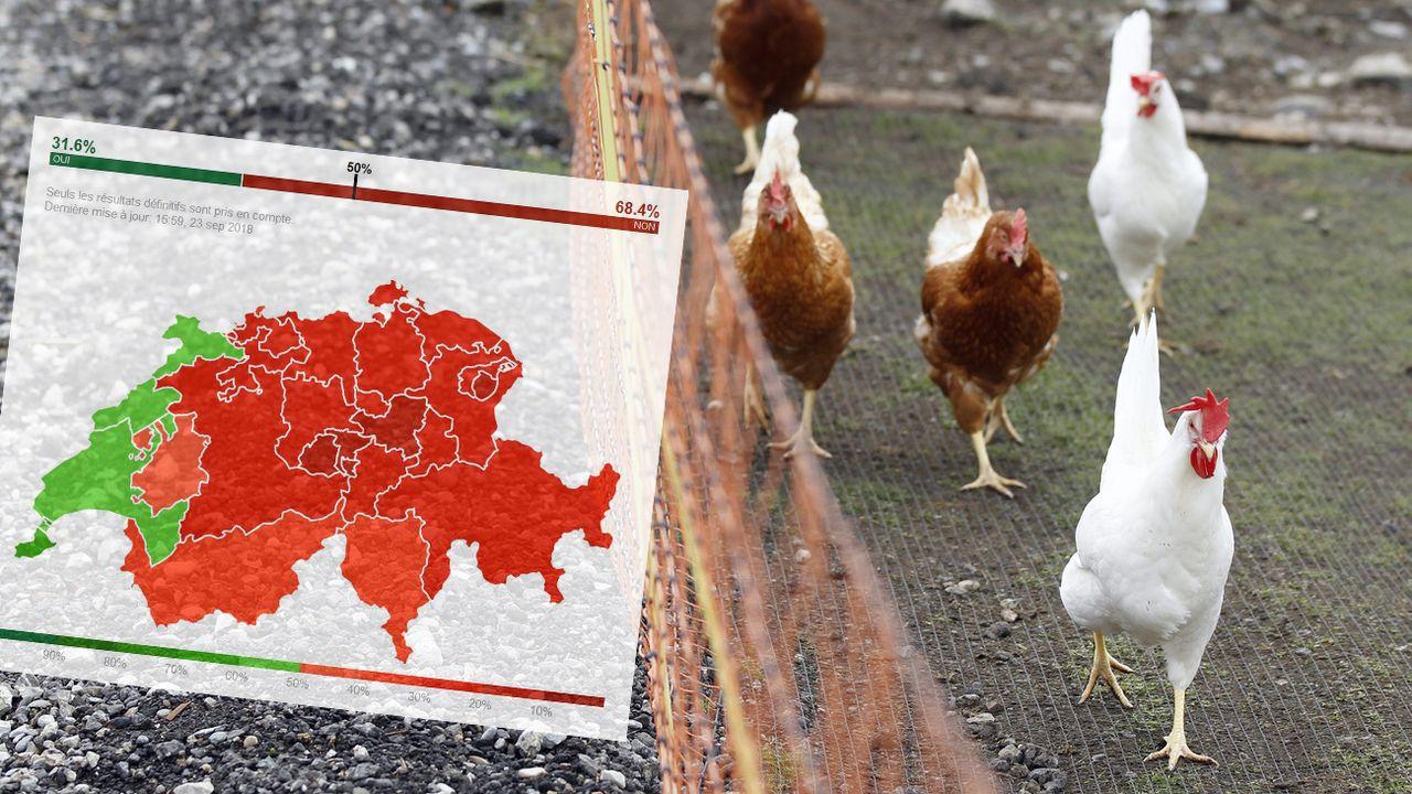 Les Suisses ont nettement repoussé les deux initiatives alimentaires soumises au vote ce 23 septembre 2018. [Peter Klaunzer - Keystone]