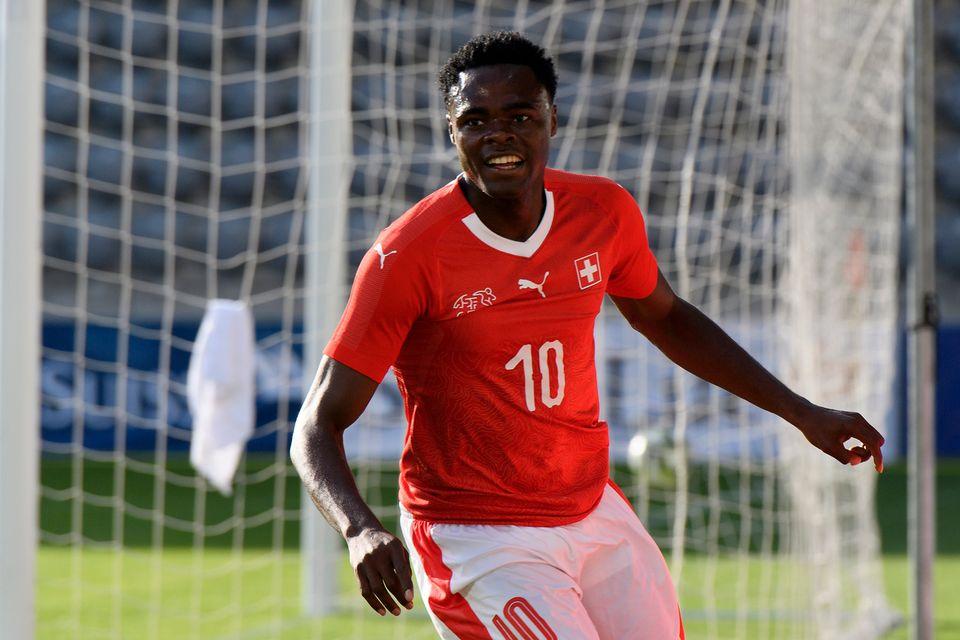 Oberlin compte une sélection avec l'équipe de Suisse face à la Grèce en amical. [Anthony Anex - Keystone]