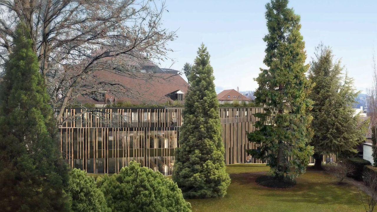 Le centre de stockage doit être construit avant les travaux du futur bâtiment de la BCU de Fribourg. [Etat de Fribourg]