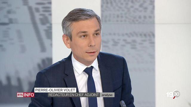 Analyse de la démission de Johann Schneider-Ammann par Pierre-Olivier Volet, rédacteur en chef adjoint de l'actualité TV. [RTS]