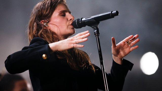 Christine and the Queens lors de son concert à Paléo. [Valentin Flauraud - Keystone]
