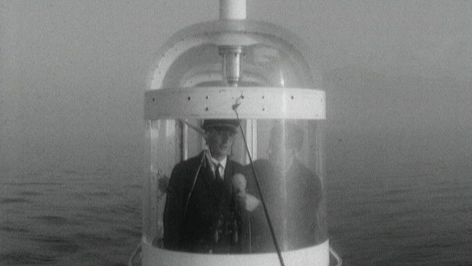 Le Mésoscaphe Auguste Piccard en 1966. [RTS]