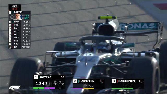 Essais qualificatifs, Valtteri Bottas prend la pole sur une erreur d'Hamilton [RTS]