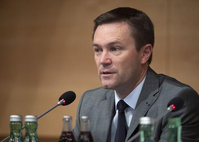 David Lappartient, président de l'UCI. [Reinhard Eisenbauer - APA/EXPA/Keystone]