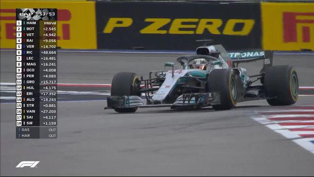 GP de Russie: Hamilton (GBR) s'impose face à Bottas (FIN) 2e et Vettel (GER) 3e [RTS]