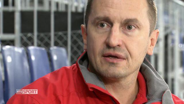 Hockey : l'entraineur du LHC Ville Peltonen [RTS]