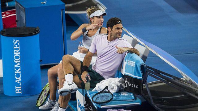Bencic et Federer auront fort à faire pour défendre leur titre. [Tony McDonough - Keystone]