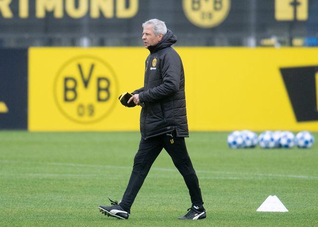 L'entraîneur du Borussia Dortmund, Lucien Favre, photographié le 2 octobre 2018. [Bernd Thissen - Keystone/DPA]
