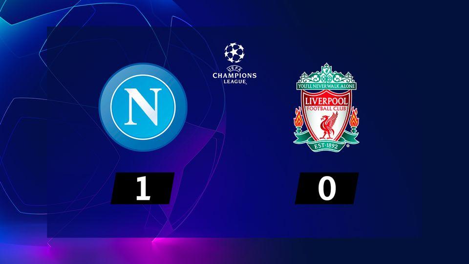2e journée, Naples – Liverpool (1-0): Naples s'impose grâce à un but d'Insigne à la 89e minute