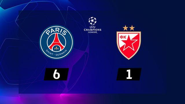 2e journée, Paris SG – ER Belgrade (6-1): Neymar marque trois fois et le PSG en passe six à l'Etoile Rouge