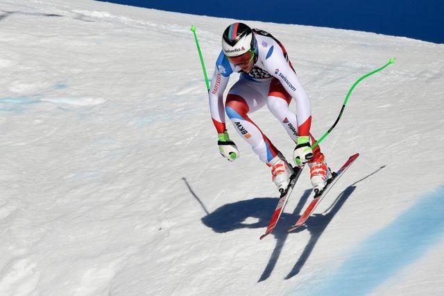 Il y aura moins de skieurs au départs des courses. [Anthony Anex - Keystone]