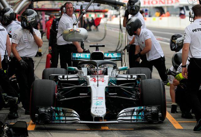 Hamilton s'élancera de la 1re ligne en compagnie de son coéquipier Valtteri Bottas. [Franck Robichon - Keystone]