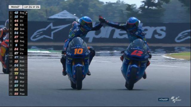 Moto2, GP de Thaïlande: victoire de Francesco Bagnaia (ITA) [RTS]