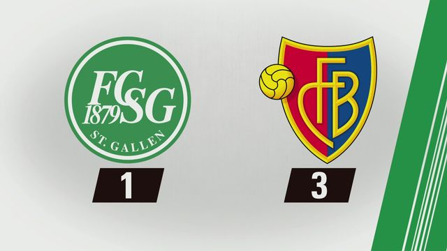 Saint-Gall - Bâle (1-3): Tous les buts [RTS]