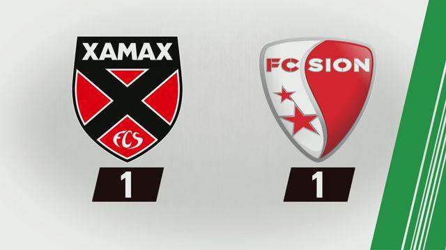 NE Xamax FCS - Sion (1-1): Tous les buts [RTS]