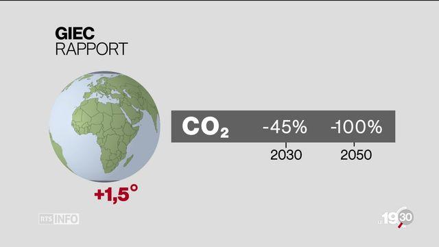 En Suisse, la hausse des températures est plus importante que la moyenne mondiale [RTS]