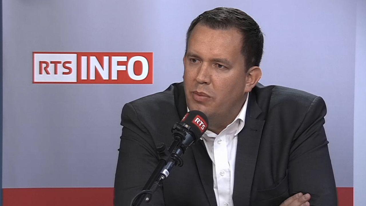 Le président de l'UDC du Valais romand Cyrille Fauchère, dans La Matinale, le 9 octobre 2018. [RTS - RTS]