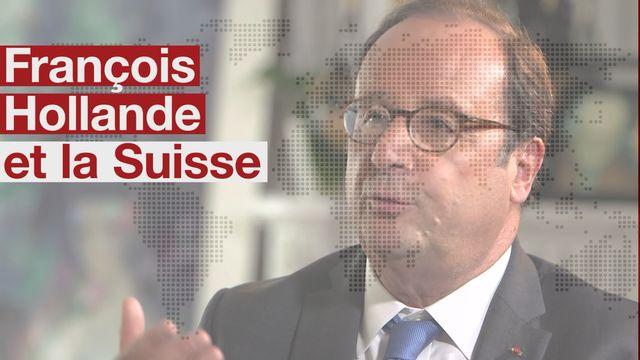 François Hollande au micro de la RTS. [RTS]