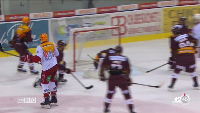 Hockey : Genève-Servette s'est imposé face à Lausanne HC mardi soir. [RTS]