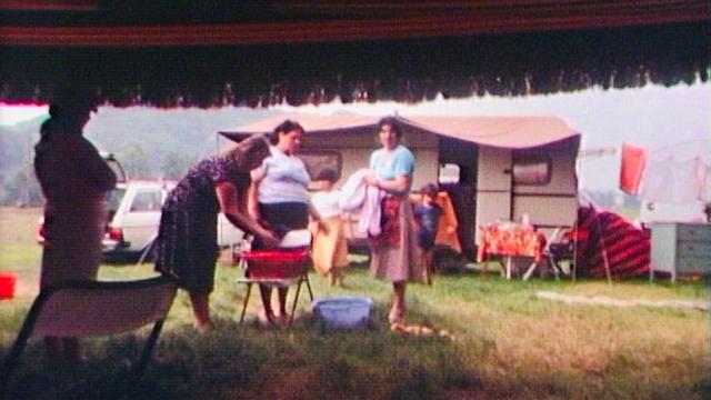 Campement yéniche en 1984. [RTS]