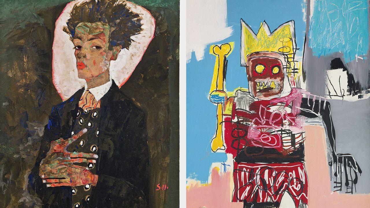 Egon Schiele et Jean-Michel Basquiat, deux génies exposés à la Fondation Louis Vuitton de Paris. [Courtesy of Ernst Ploil, Vienne / © Estate of Jean-Michel Basquiat. Licensed by Artestar, New York - Fondation Louis Vuitton]