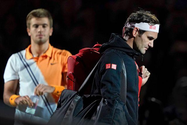 Roger Federer a été éliminé du tournoi de Shangaï par le Croate Borna Coric. [Andy Wong - AP Photo/Keystone]