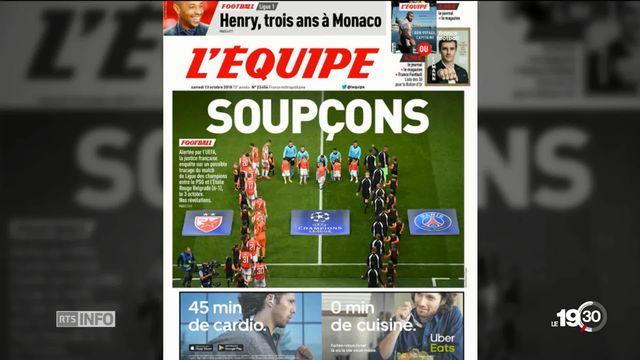 Enquête du quotidien L'Équipe sur le match PSG-Belgrade qui aurait été truqué. [RTS]
