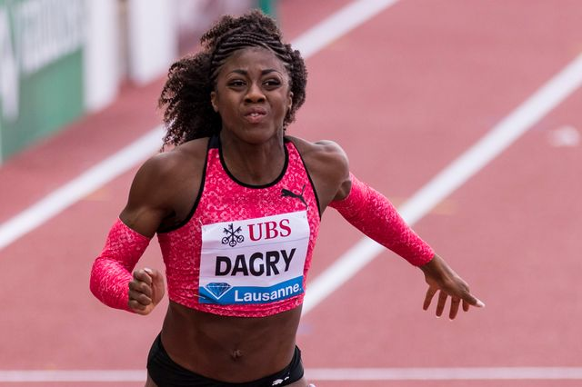 La sprinteuse suisse Samantha Dagry. [Martial Trezzini - Keystone]
