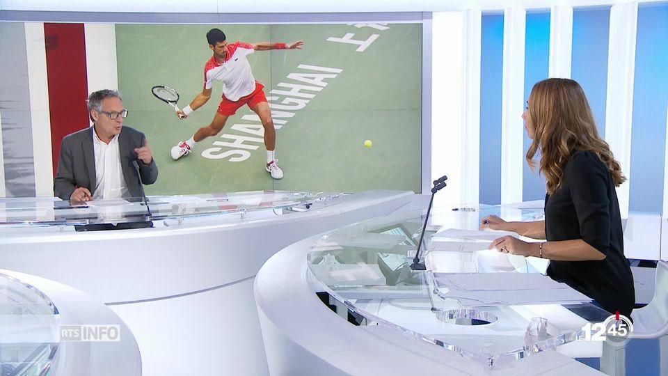 Novak Djokovic a remporté le Masters 1000 de Shanghaï en battant Borna Coric en deux sets 6-3 6-4. [RTS]