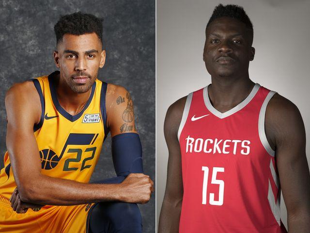 Thabo Sefolosha et Clint Capela entament une nouvelle saison en NBA. [R.Bowmer/D.J Phillip - Keystone]