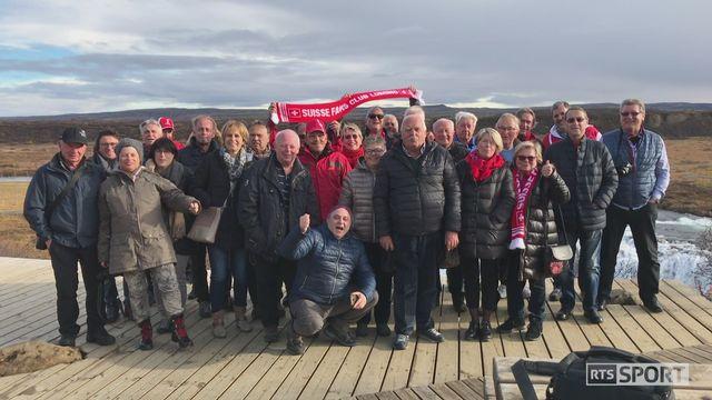 Football, avant- Islande-Suisse: 33 membres du fan club tessinois de Lumino ont fait le déplacement en Islande [RTS]