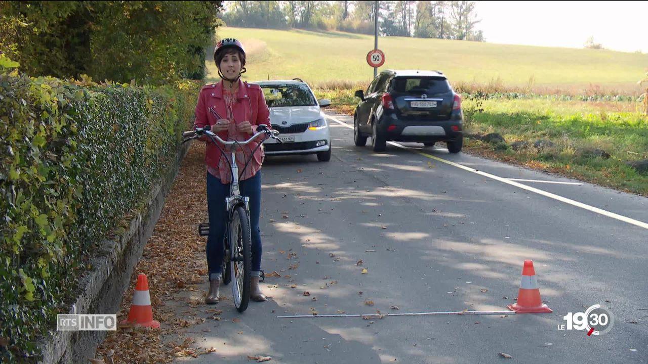 1m50, le prix de la sécurité pour les vélos face aux voitures [RTS]