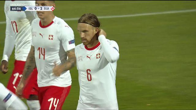 Gr.2, Islande – Suisse (0-2): 67e, Lang double la mise dans la cage vide [RTS]