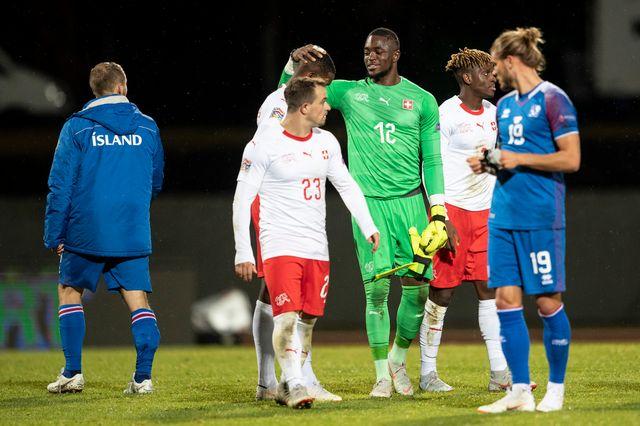 Yvon Mvogo a réussi une solide prestation face à l'Islande. [Ennio Leanza - Keystone]