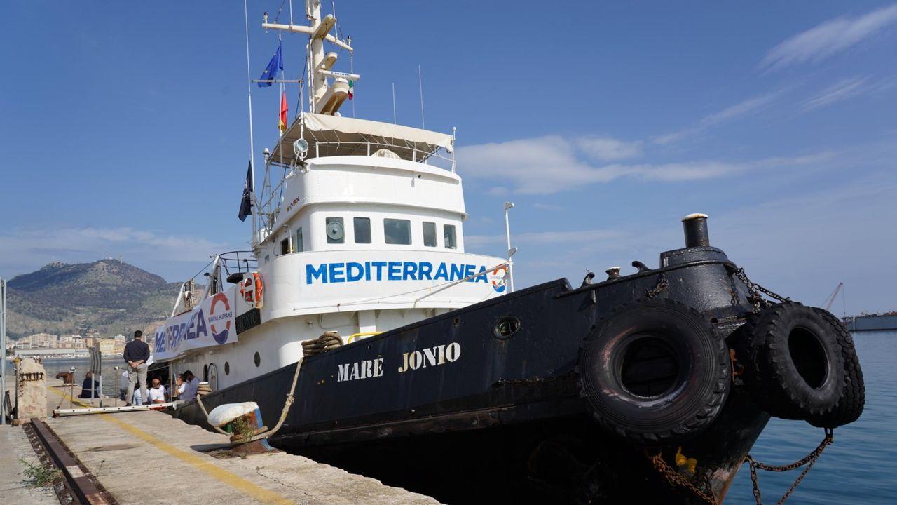 Le navire Mare Ionio a été acheté par des activistes et députés de la gauche italienne. [Antoine Harari - RTS]