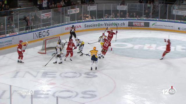 En hockey sur glace, Bienne trébuche encore à Fribourg [RTS]