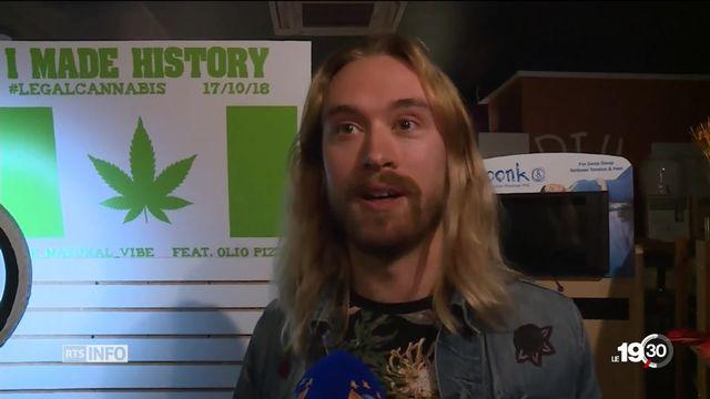 """Le Canada légalise le cannabis. Surnommé """"l'or vert"""", il devrait générer d'importantes retombées économiques. [RTS]"""