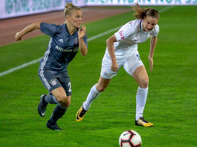 Champions League dames FC Bayern Munich - FC Zurich  1/8e de finale [Patrick B. Kraemer - Keystone]
