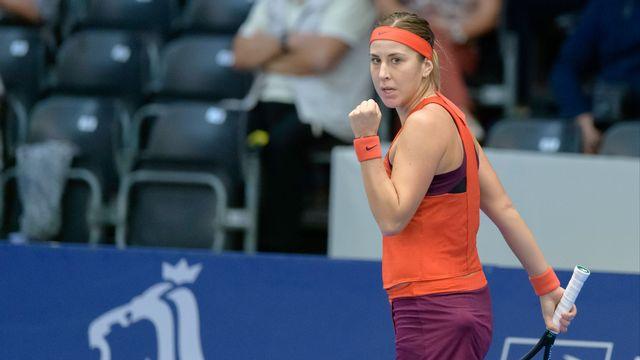 Belinda Bencic a pris une belle revanche sur son adversaire. [Georges Noesen - Freshfocus]