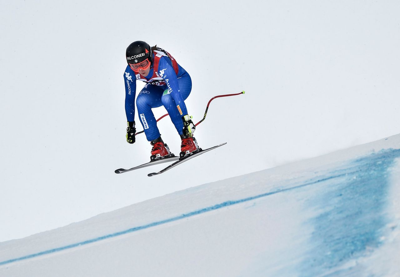 La poisse pour la skieuse italienne. [Pontus Lundahl - Keystone]