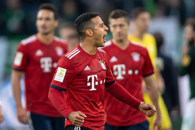 Le Bayern Munich s'est imposé samedi face à Wolfsburg. [Swen Pförtner - DPA/Keystone]