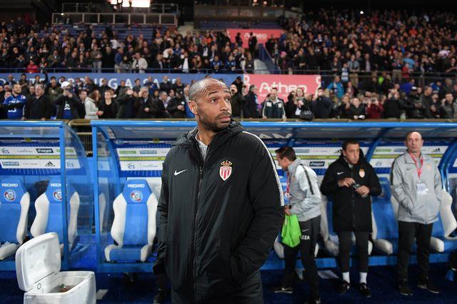 Thierry Henry espérait sûrement mieux pour ses débuts. [Frederick Florin - AFP]