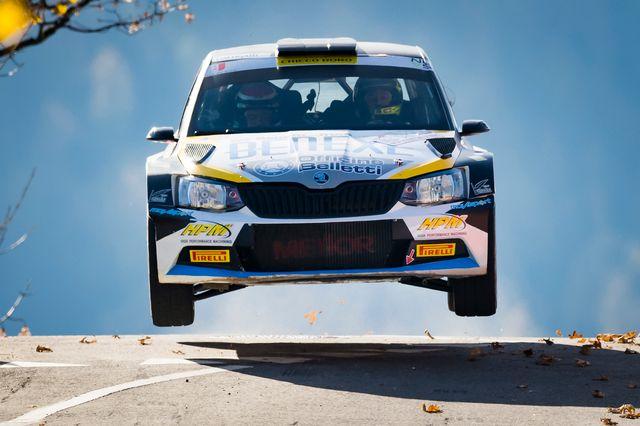 L'Italien Giandomenico Basso s'est imposé samedi lors du Rallye du Valais. [Jean-Christophe Bott - Keystone]
