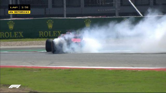 GP des Etats-Unis: Vettel (GER) part en tête-à-queue après un accrochage avec Ricciardo (AUS) [RTS]