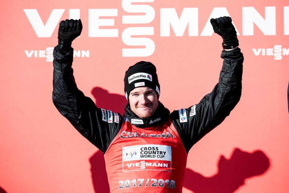 Vainqueur du Tour de Ski et de l'or olympique, Cologna a vécu une saison de rêve. [Federico Modica - Freshfocus]