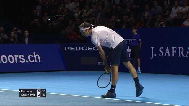 1-16e, Roger Federer (SUI) - Filip Krajinović (SRB) (6-2): premier set pour Federer [RTS]