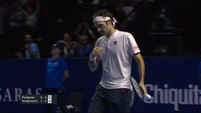 1-16e, Roger Federer (SUI) - Filip Krajinović (SRB) (6-2, 4-6, 6-4): Federer s'impose [RTS]